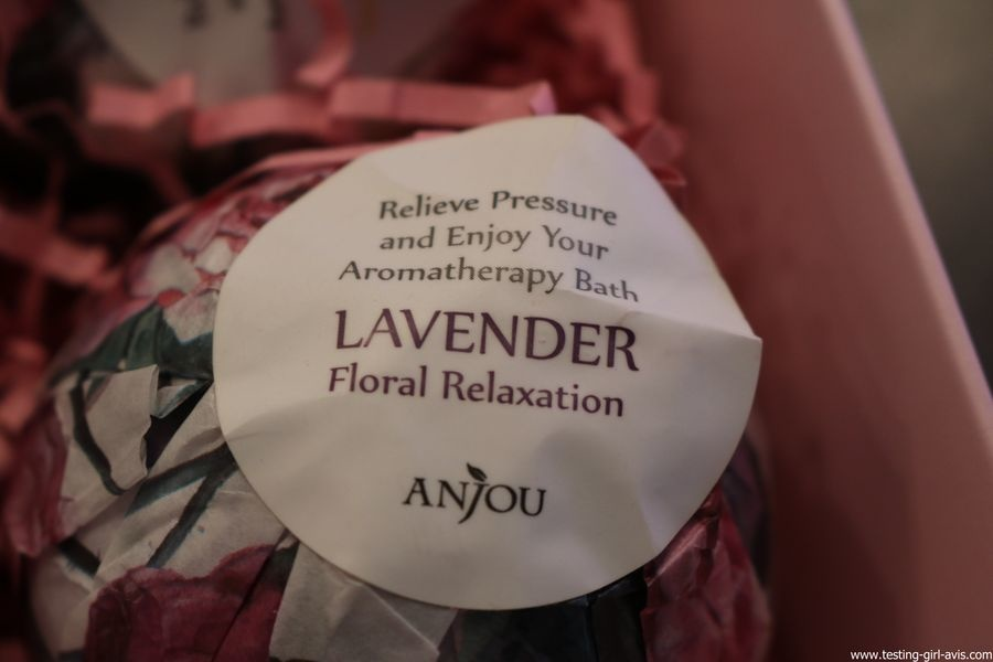 coffret cadeau de boules de bain effervescentes Anjou Naturals