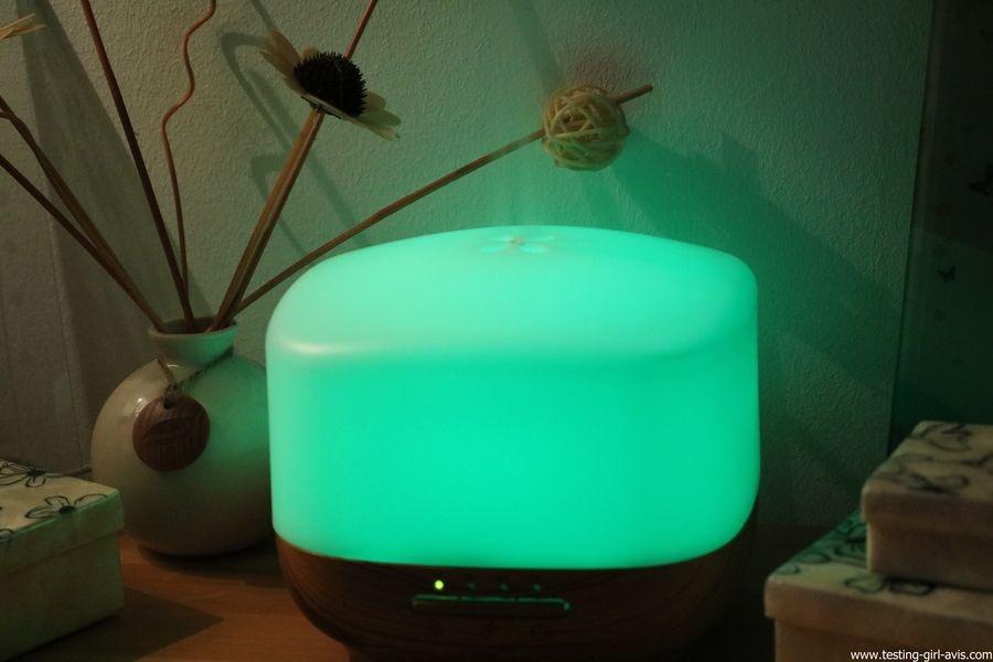 Diffuseur d'Huiles Essentielles Aromatherapie 500mL Anjou Humidificateur Ultrasonique sans BPA couleur vert