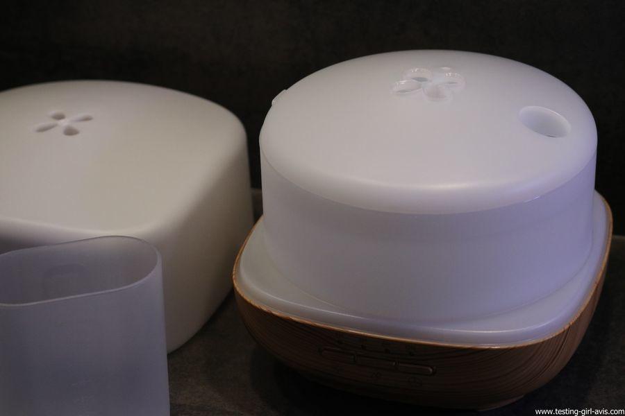 Diffuseur d'Huiles Essentielles Aromatherapie 500mL Anjou Humidificateur Ultrasonique sans BPA interieur