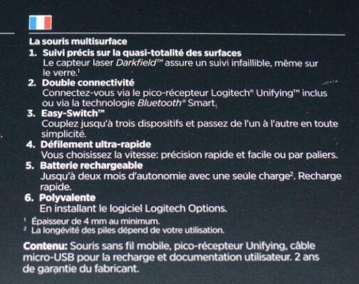 souris sans fil Logitech MX Anywhere 2 pour Windows/Mac (Bluetooth, Unifying)
