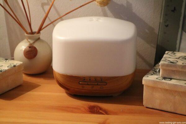 Diffuseur d'Huiles Essentielles Aromatherapie 500mL Anjou Humidificateur Ultrasonique sans BPA test avis