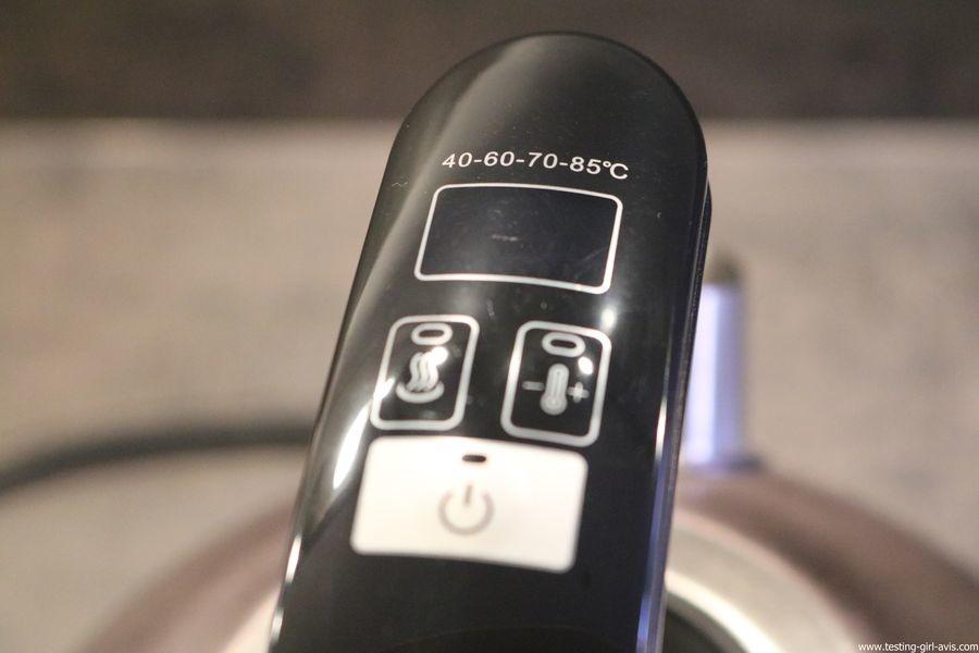 Naelia - Bouilloire thermostat réglable - WKT-EK103-NAE- Inox Gris 1,5 L manche digital
