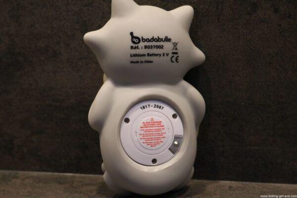 BADABULLE Thermomètre de Bain Raton Laveur derriere