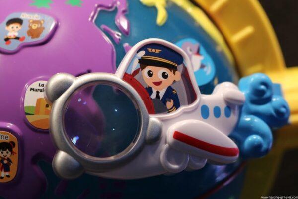 VTech - Lumi Globe Interactif - jeux educatifs - loupe - avion - atterissage