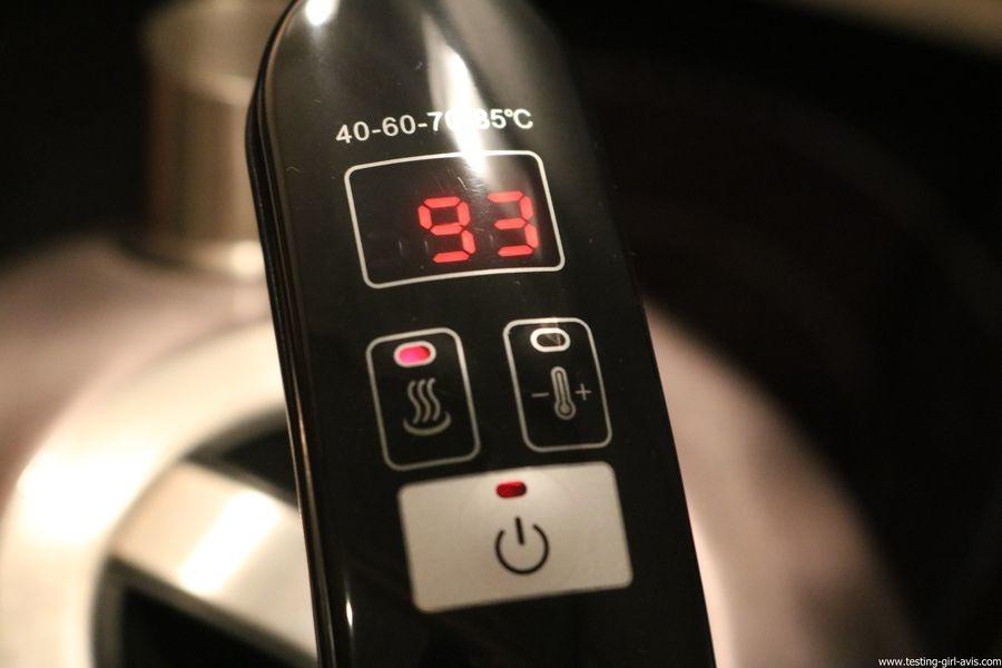 Naelia - Bouilloire thermostat réglable - WKT-EK103-NAE- Inox Gris 1,5 L mode manuel ebullition