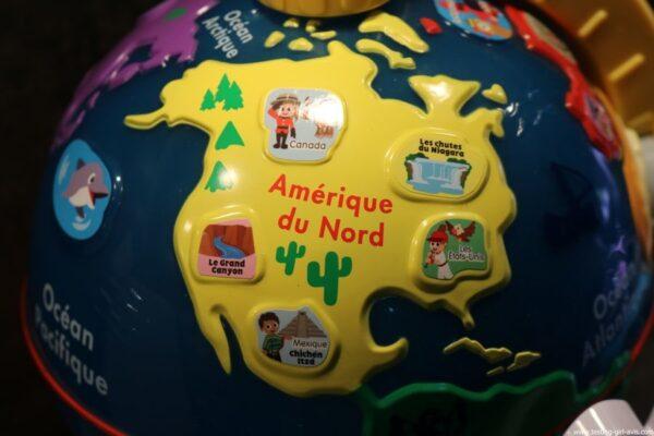 VTech - Lumi Globe Interactif - jeux educatifs - amerique du nord - continents