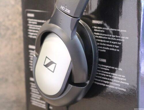 Sennheiser HD 206 Casque stéréo dynamique pour Smartphones/Tablettes/hi-fi/chaînes stéréo Argent