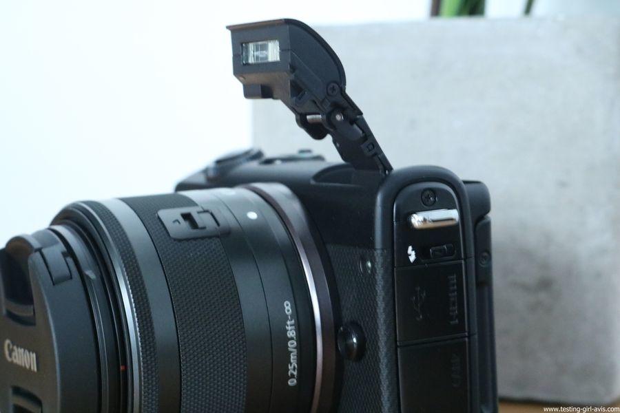 Canon EOS M100 Noir + EF-M 15-45mm Limited Edition Kit d'appareil Photo Numérique 24,2 Mpix Zoom optique 10x Bluetooth Noir - flash