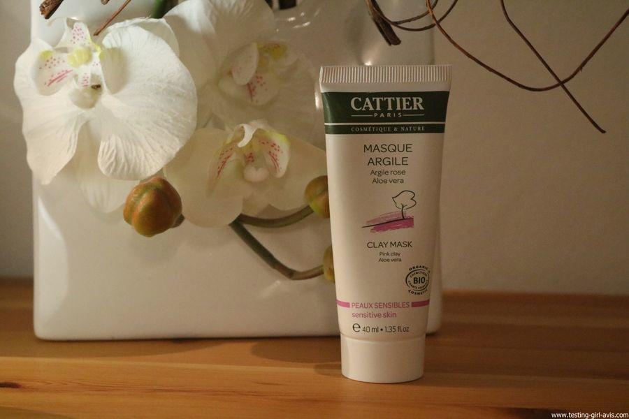 Cattier Masque Argile Rose Aloe Vera Bio 100 ml