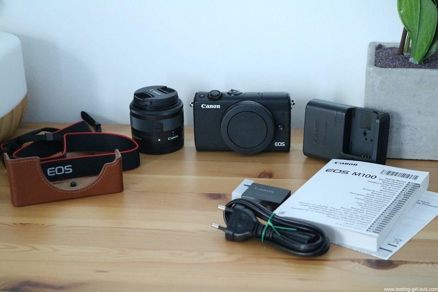 Canon EOS M100 Noir + EF-M 15-45mm Limited Edition Kit d'appareil Photo Numérique 24,2 Mpix Zoom optique 10x Bluetooth Noir - complet