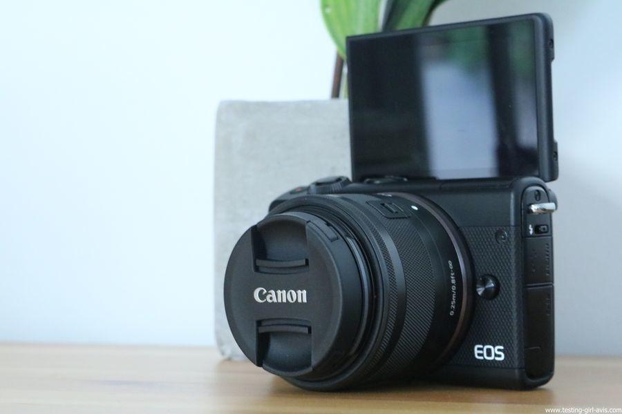 Canon EOS M100 Noir + EF-M 15-45mm Limited Edition Kit d'appareil Photo Numérique 24,2 Mpix Zoom optique 10x Bluetooth Noir - ecran tactile