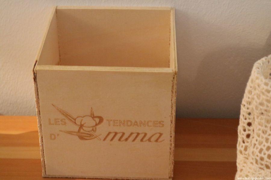     Les Tendances D Emma Kit Eco Belle bois: 15 carrés démaquillants lavables Coton Bio Biface + filet + boite en bois - boite en bois PEFC