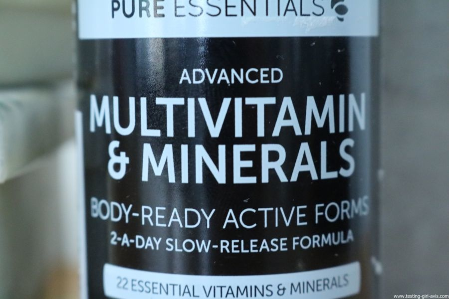 Pure Essentials Multivitamines et Minéraux avancés Pure Essentials avec Folate - 60 comprimés - description