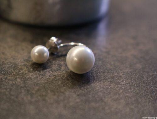 Boucles Clous d'oreilles Perles blanches Synthétiques Argent 925 pour femme fille avec un écrin cadeau- Idée Cadeau Saint Valentin Anniversaire