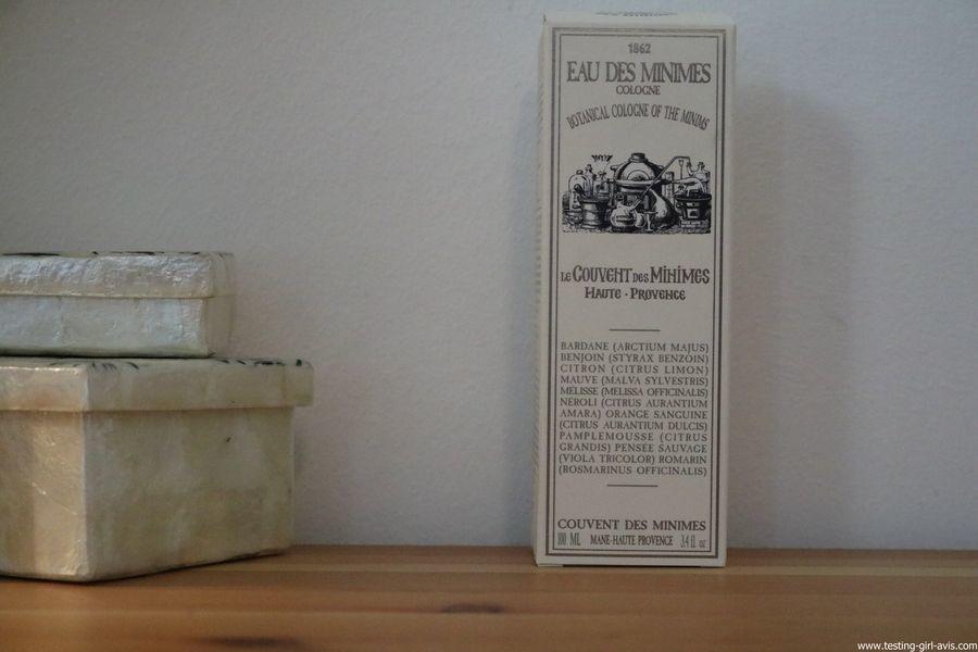 Eau des Minimes Cologne 100 ml de Le Couvent des Minimes - presentation