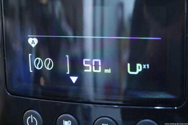 Krups Expresso Broyeur à Grains Essential Noire Ecran LCD avec Pot à Lait Inox - mémorisation