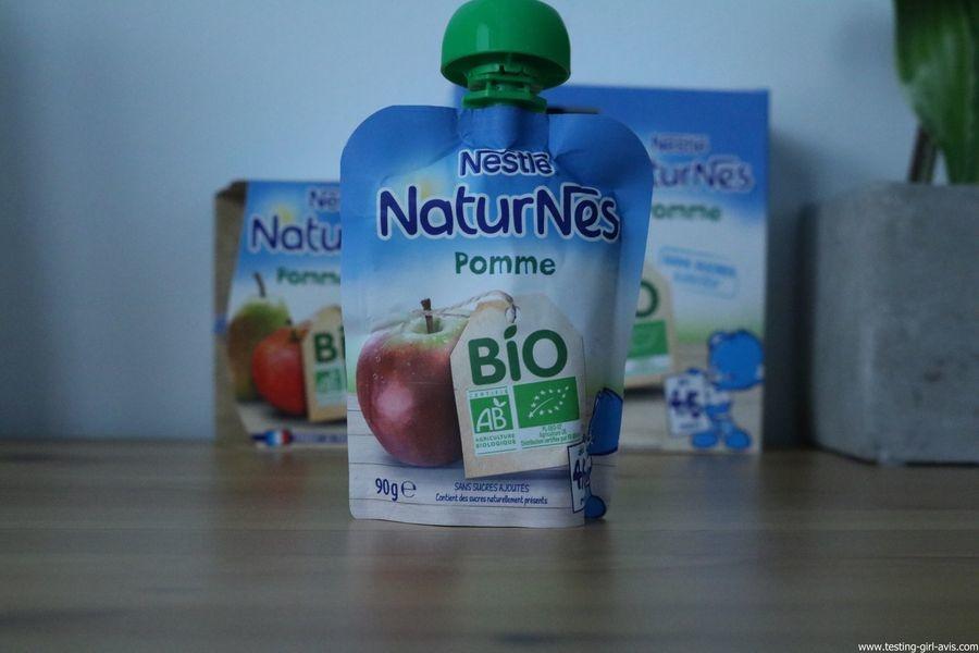 Nestlé Naturnes - compote bébé - bio - sans sucres ajoutés - petit pot