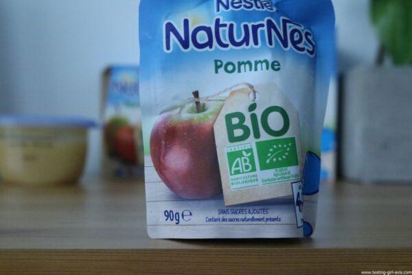 Nestlé Naturnes - Compotes bébé - bio - sans sucres ajoutés - avis