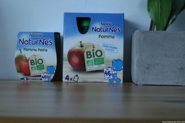 Nestlé Naturnes - Compotes bébé - bio - sans sucres ajoutés - description