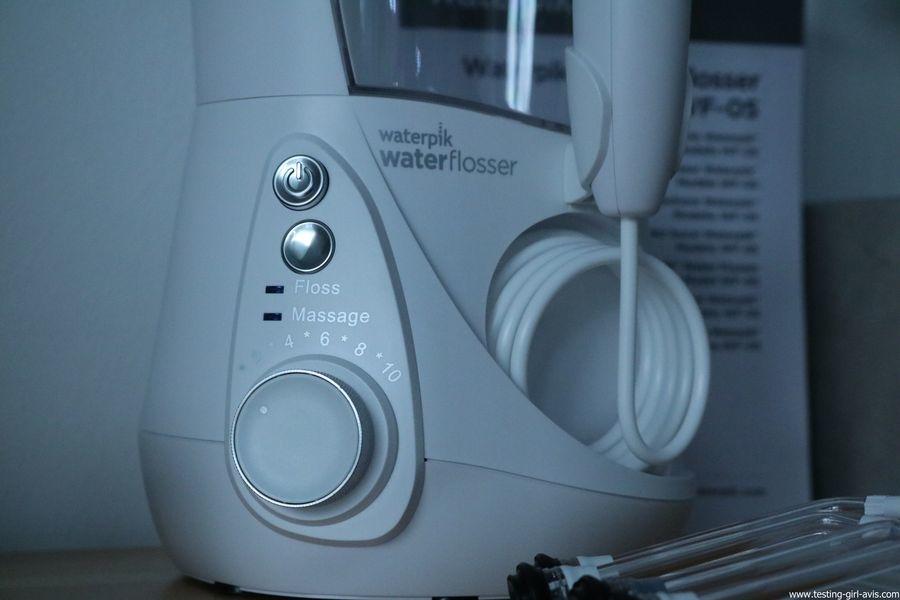 Waterpik Jet Dentaire Electrique Hydropulseur Blanchiment Dents Professional/WF-05EU - variateur - floss - massage