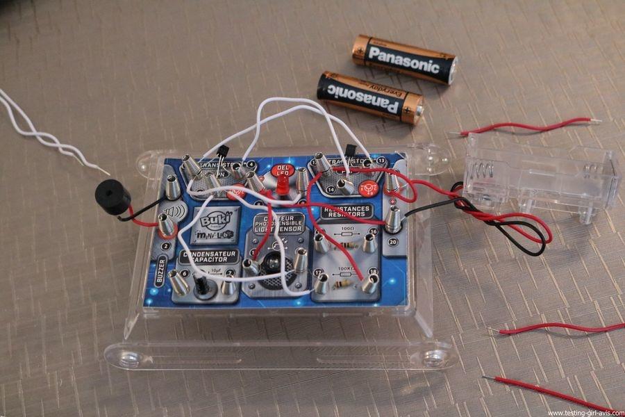Buki - Jeu Scientifique Mini Lab Electronique - Construis ton alarme -  Montage