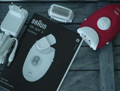 Braun - Silk-Épil 3 3-410 - Epilateur Electrique - 3 Accessoires - Rose Framboise