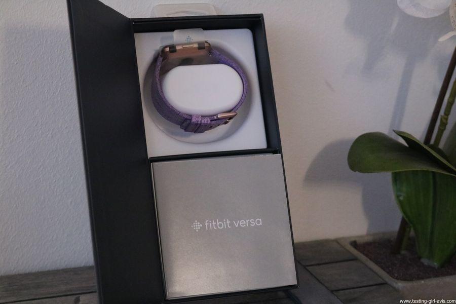 Montre cardio femme - Montre Connectée - Smartwhatch - Fitbit - Versa - Contenu