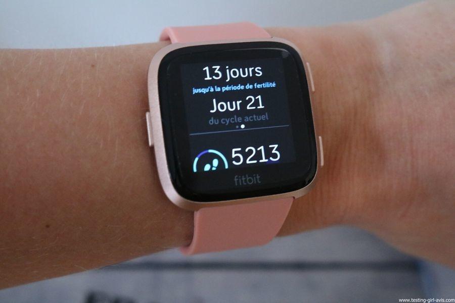  Montre cardio femme - Montre Connectée - Smartwhatch - Fitbit - Versa - Santé Féminine