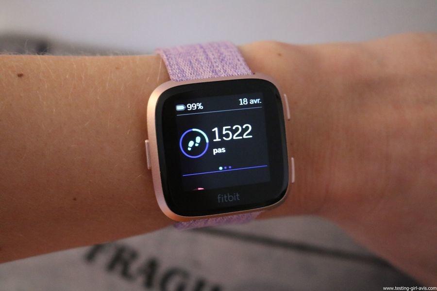  Montre cardio femme - Montre Connectée - Smartwhatch - Fitbit - Versa - Stats