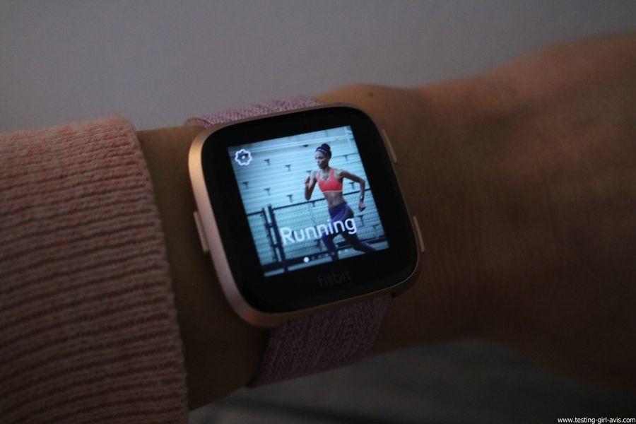  Montre cardio femme - Montre Connectée - Smartwhatch - Fitbit - Versa - Multisport Running