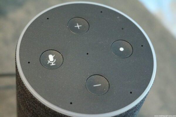 Amazon Echo Alexa - Enceinte connectée - Boutons Commandes