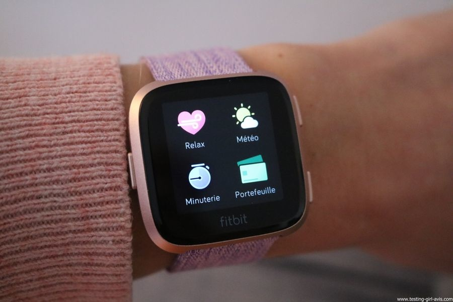  Montre cardio femme - Montre Connectée - Smartwhatch - Fitbit - Versa - Apps Utiles