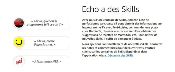 Amazon Echo Alexa - Skills