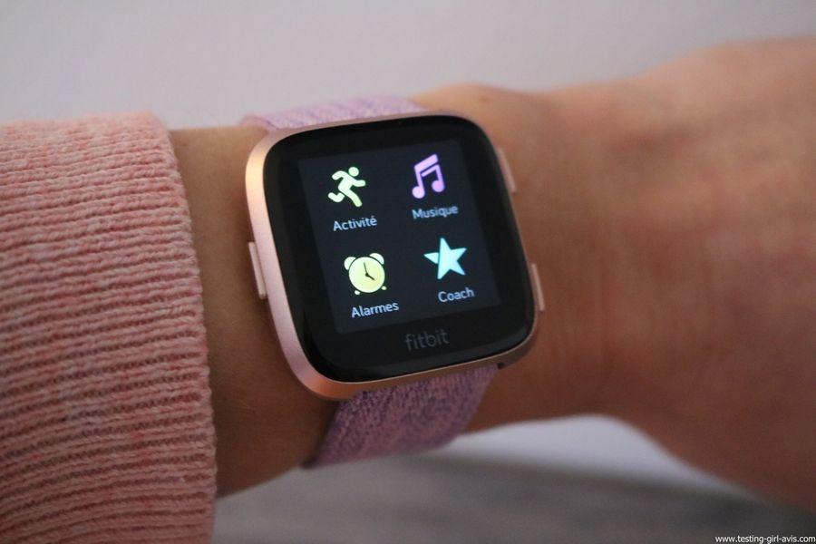 Montre cardio femme - Montre Connectée - Smartwhatch - Fitbit - Versa - Applications