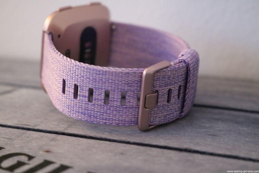 Montre cardio femme - Montre Connectée - Smartwhatch - Fitbit - Versa - Bracelet tissé lavande