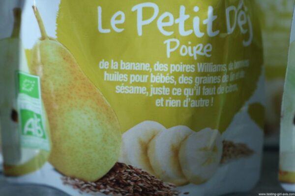 Good Goût - Bio - Bébé - Diversification alimentaire bébé - Le Petit Déj Poire