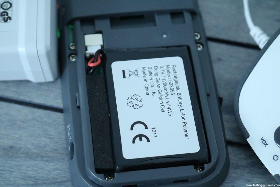 Babyphone Nuk - Eco Control Audio 500 - Unité parent - Batterie Rechargeable