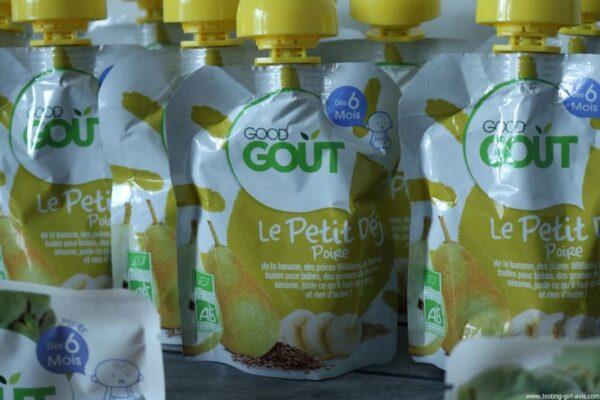 Good Goût - Bio - Bébé - Diversification alimentaire bébé - Petit déj Poire