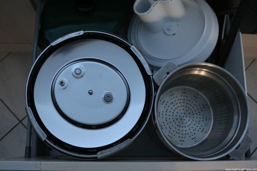 Autocuiseur SEB - Delicio - Inox - Rangement