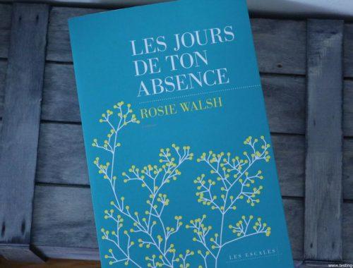 Les jours de ton absence - Rosie Walsh - Les Escales - Chronique