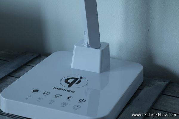 Lampe de bureau LED - MEIKEE - Chargeur Qi