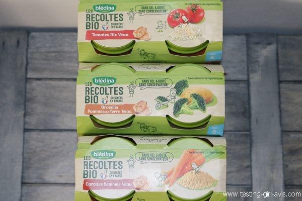 Petits pots blédina - Les recoltes bio - Repas bebe