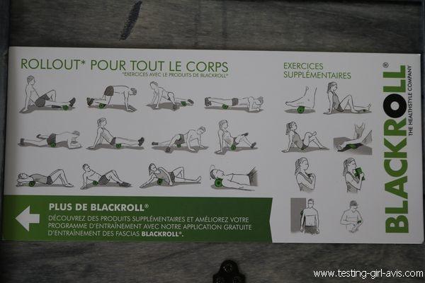 Rouleau de massage - Blackroll MED - Exercices