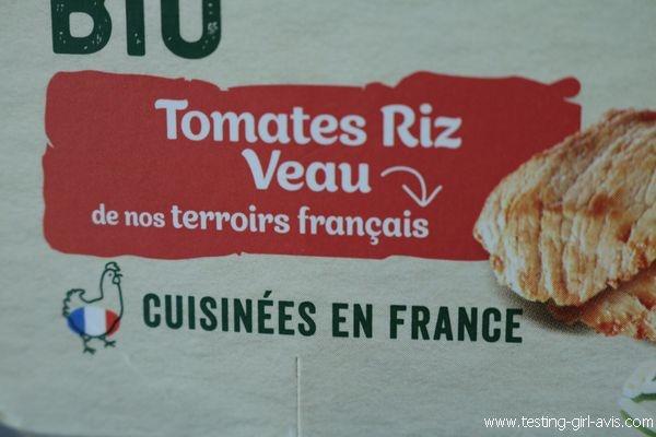 Petits pots blédina - Les recoltes bio - Tomates Riz Veau - Cuisine en France