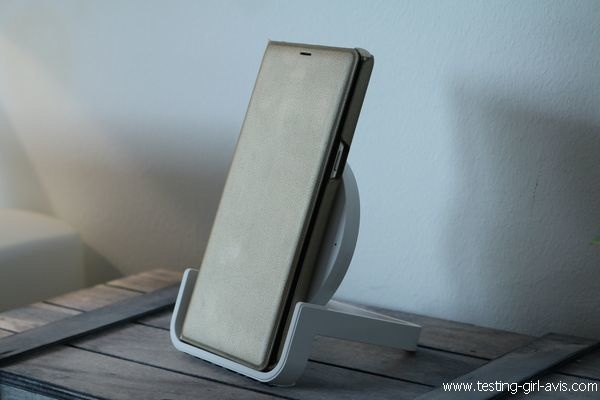 Chargeur induction Belkin Boost UP - Avec Samsung Galaxy Note 8 et LED Cover View