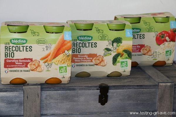 Petits pots blédina - Les recoltes bio - Description