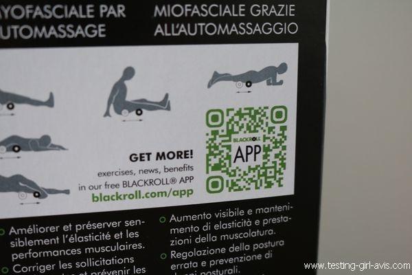 Rouleau de massage - Blackroll MED - Application