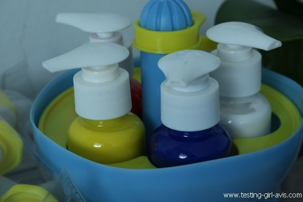 Apprendre le mélange des couleurs primaires - Atelier Mini Art Peinture - Buki - Flacon pompe peinture