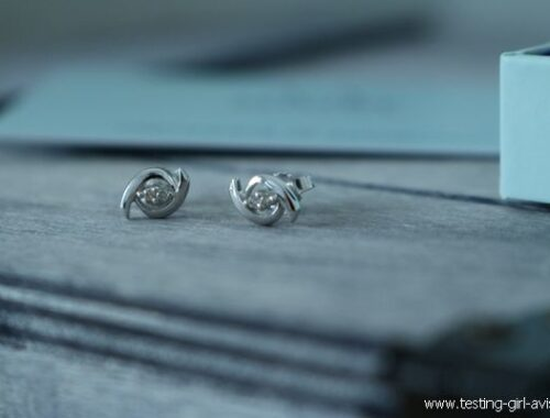 Boucles d'oreilles Miore : Or blanc 9 carats et 4 diamants