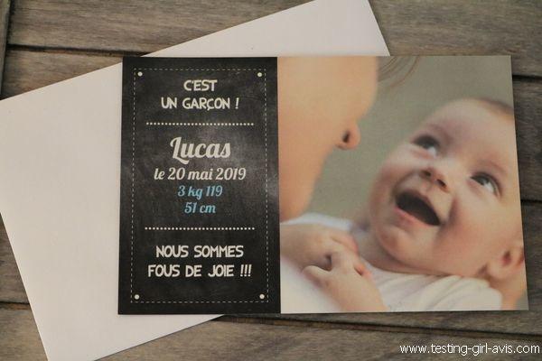 Faire-part de naissance magnet - Popcarte - Avis